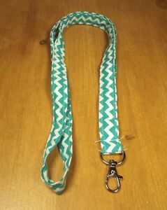 Homemade Lanyard Teal Chevron Pattern