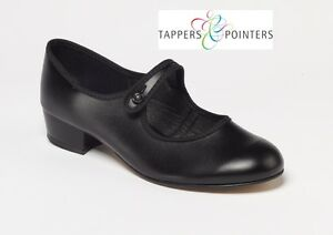 e5454e9f24a5 Details about PREMIUM BLACK PU LOW HEEL BUTTON BAR CHARACTER SHOES BY  TAPPERS & POINTERS