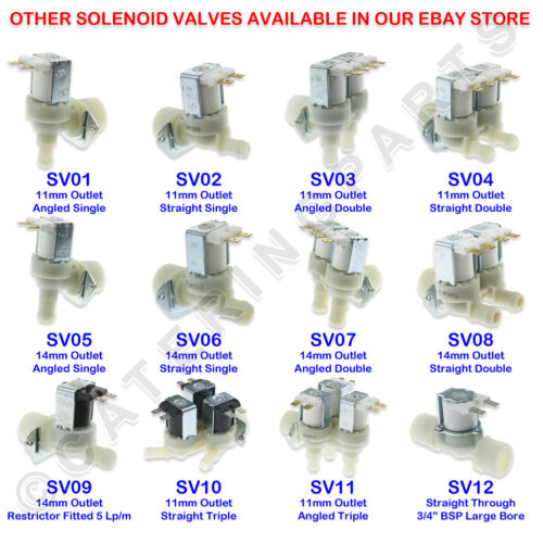 "SV11 3//4/"" Triple eau vanne 230 V Bobine trois Angle Outlets Solénoïde 11 mm"
