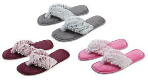 best best sneakers super quality Details about Girls Faux Fur Mule Slippers Open Toe Childrens Kids Gift  Idea Size UK 10-2