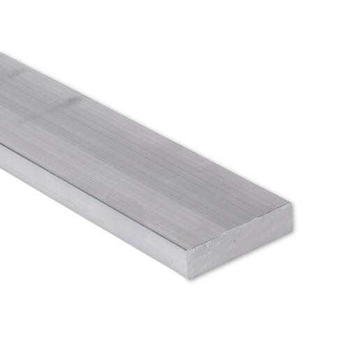"1//2/"" x 2/"" Aluminum Flat Bar 6/"" Length 0.5/"" T6511 Mill Stock 6061 Plate"