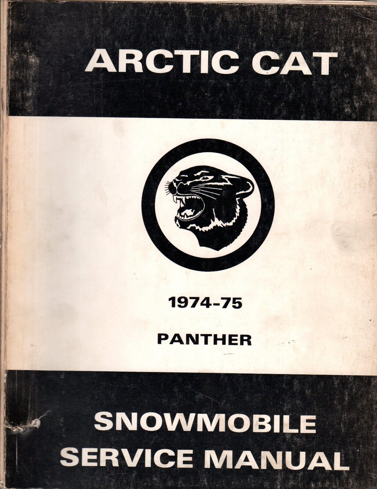 HUGE 1974 & 1975 ARCTIC CAT PANTHER SERVICE MANUAL PARTS+  (104)