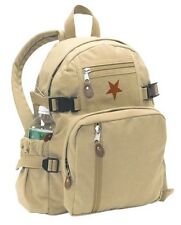 Rothco 9162 Vintage Canvas Mini Backpack - Star/Khaki