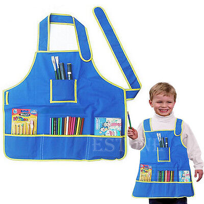 Apron Artist Painting Cooking Drawing Waterproof Smock Kids Toddler Child Craft