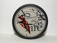 Fort Worth Official Fire Hockey Puck Made in Czechoslovakia Signed