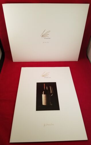OVERTURE BY OPUS ONE GUIDE BOOKLET PAMPHLET RARE STORY FROM VINEYARD