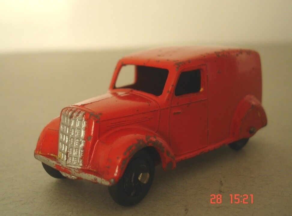 Dinky Toys Delivery Van -  Post War Commercial Dinky Toys 280 - Red Version