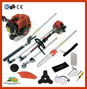 5-in-1-Hedge-Trimmer-Chainsaw-Strimmer-Brush-Cutter-amp-Extension-Pole-New