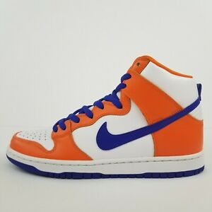 Nike-SB-Dunk-High-TRD-QS-Danny-Supa-Orange-Blue-White-AH0471-841-New-Men-039-s-Shoes
