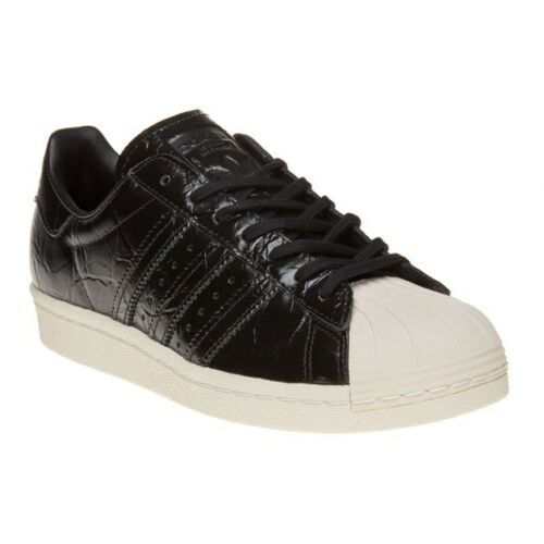 Black Adidas para Up Leather Lace Trainers 80's Nueva Animal mujer Superstar wSqdTwx
