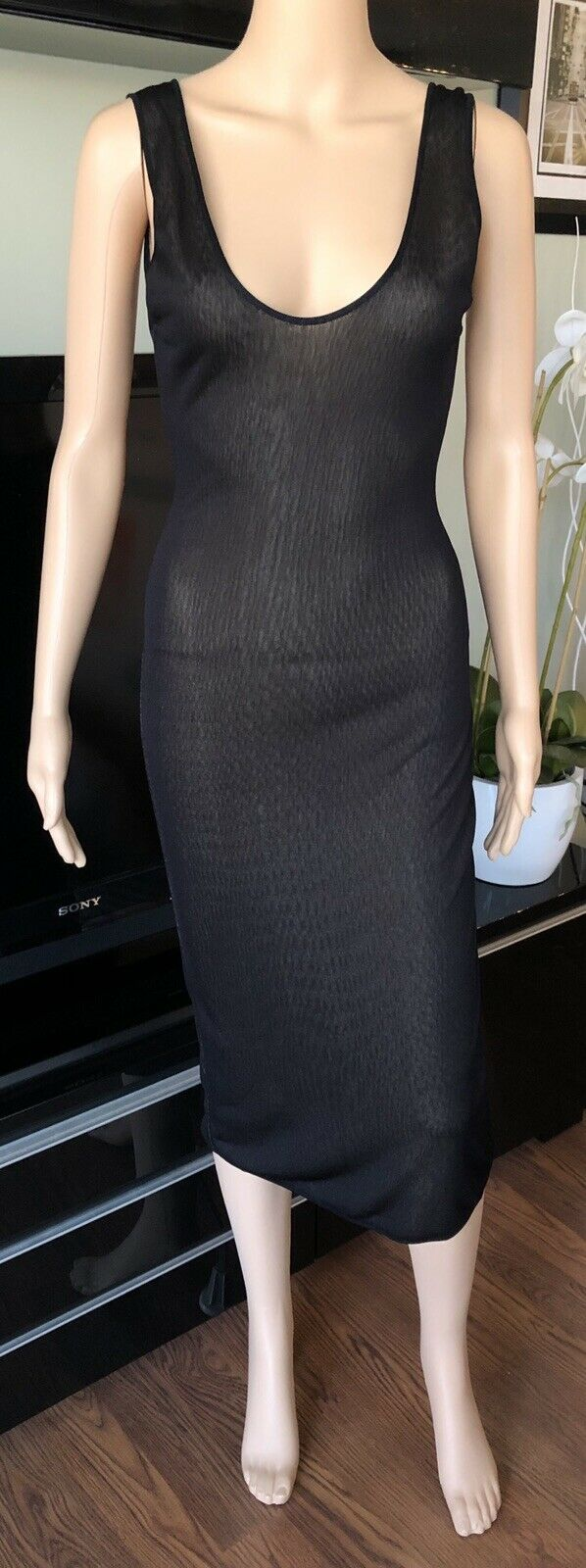 Azzedine Alaia Sheer Bodycon Open Back Dress S/M - image 2