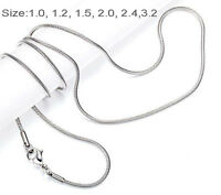 One Day Ship 18-32 Mens Womens Stainless Steel Necklace Chain Snake Chain