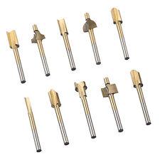 "Set of 10pcs 1/8"" HSS Shank Titanium HSS Router Bit Trimmer For Rotary Tool"