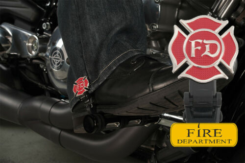 """4/"""" Fire Department Biker Boot Straps"""