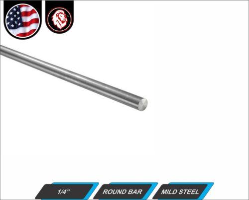 "Solid mild steel 1//4/"" Round Bar 24/"" Length"
