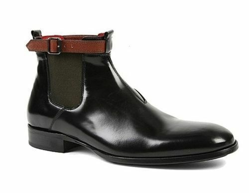 Mens Handmade Boots Black Chelsea Genuine Leather Ankle Formal Wear Casual shoes