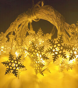 3M-20-LED-Yellow-snowflake-LED-String-Christmas-Wedding-Party-Fairy-Lights