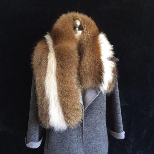 Genuine finn racoorn Nyctereutes procyonoides écharpe fourrure étole col wrap shawl