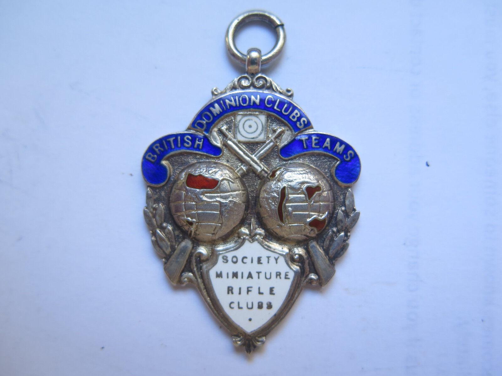 1932 equipos clubes británicos Dominion sociedad Miniatura rifle clubes Stg Sil medalla