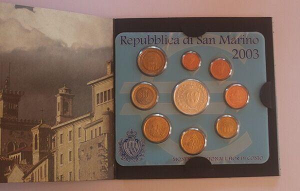 100% Vrai Rare Coffret Bu 9 Pieces San Marin 2003 Neuf Distinctive Pour Ses PropriéTéS Traditionnelles