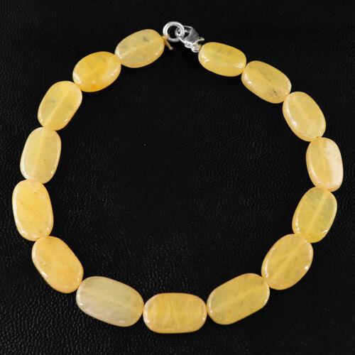 Untreated Finest 103.75 Cts Naturel Riche Orange Aventurine Ovale Perles Bracelet