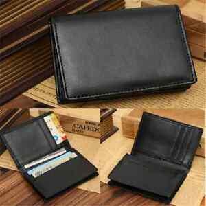 Men-039-s-Genuine-Leather-Mini-Wallet-Bifold-ID-Credit-Card-Holder-Purse-Money-Clip