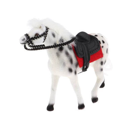 Mini Horse Farm Animals Figure Fits 1/12 Dollhouse Micro Landscape, White