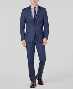350-Van-Heusen-Men-039-s-38R-Blue-Pindot-Slim-Fit-Sport-Coat-Blazer-Suit-Jacket