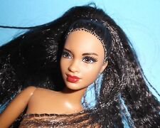 NUDE ETHNIC HOTTIE MBILI FACE CRIMPED HYBRID - RE-BODIED BARBIE FREE SHIPPING