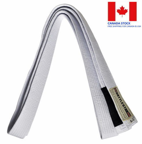 WHITE Jiu Jitsu BJJ Belt 100/% Cotton Pro Quality IBJJF Standard by BATTLESTAR