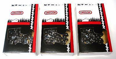 "3 36/"" 3//8 Pitch .063 Gauge 115 DL  75LGX115G OREGON Full Chisel Chains 3-Pack"