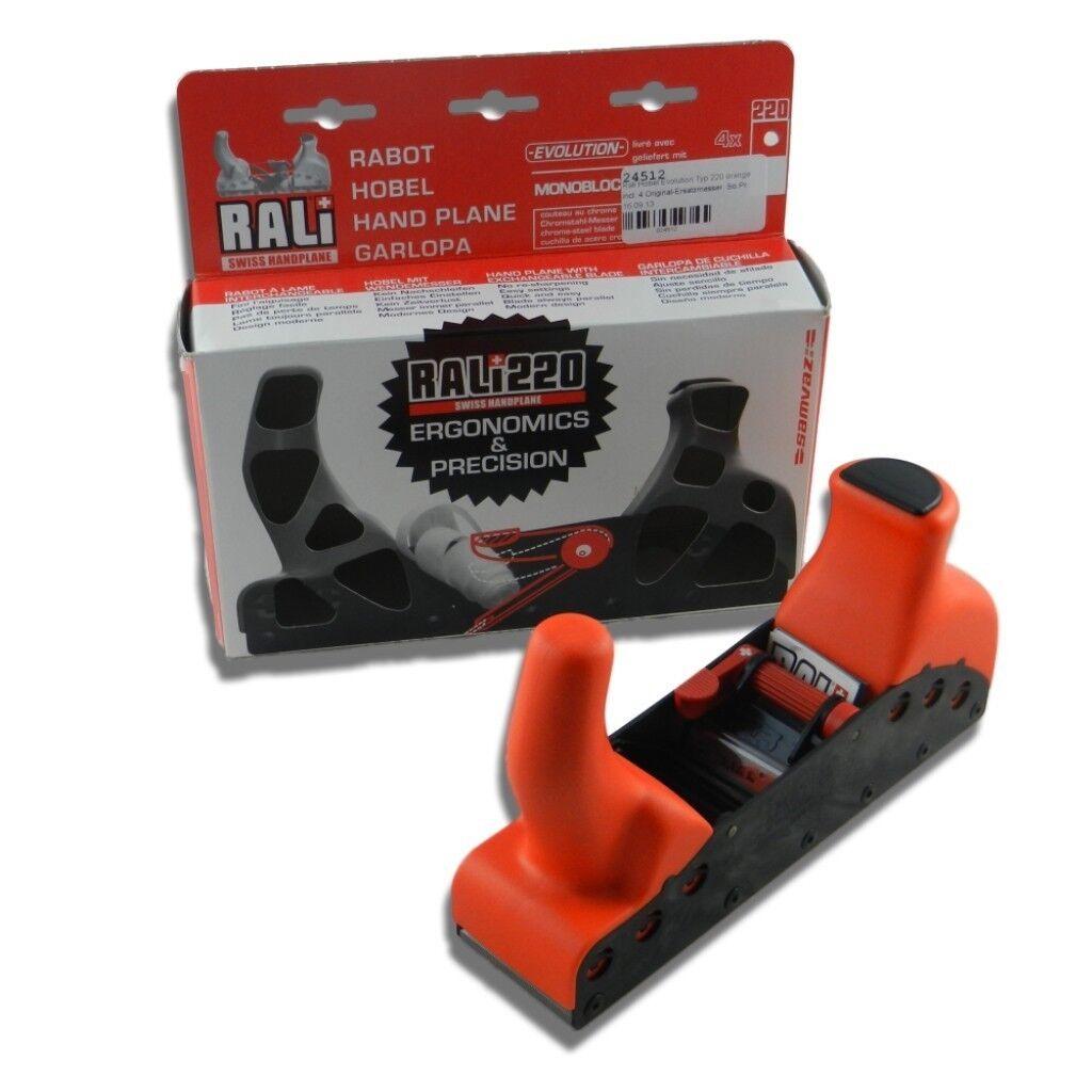 RALI Hobel Evolution Typ 220 Orange incl. incl. incl. 4 Original-Ersatzmesser d18729