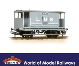 OO Gauge Bachmann 38-552A Midland 20T Brake Van LMS Grey with Duckets