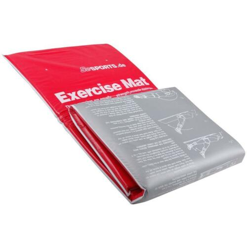 ScSPORTS® Gymnastikmatte Yogamatte Fitnessmatte 180 x 60 x 2 cm faltbar rot//grau