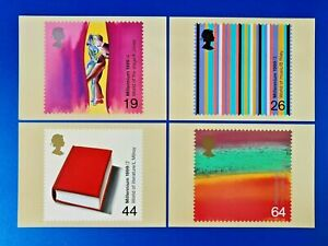 Set of 4 PHQ Stamp Postcards Set No.214 Millennium The Artists Tale 1999 OE6