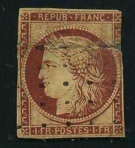 FRANCE-N-6-034-CERES-1F-CARMIN-FONCE-034-OBLITERE-A-VOIR