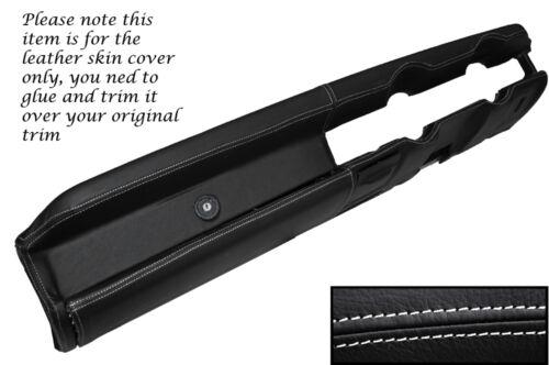 White stitch top Dash tableau de bord en cuir peau couvrir fits HILLMAN IMP Late Models