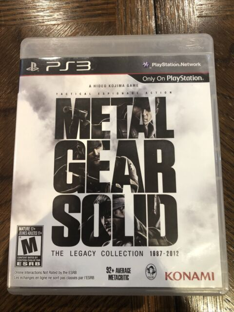 Metal Gear Solid: The Legacy Collection 1987-2012 (PS3, 2013) Complete With Man.