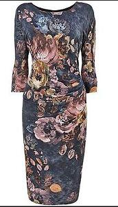 BNWT-Phase-Eight-8-Multi-Colour-Windsor-Print-dress-size-14