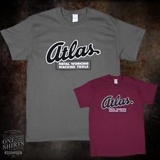 Atlas Metal Working Machine Tool Lathe T Shirt Rare Logo On Gildan