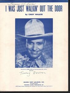I-Was-Just-Walkin-Out-the-Door-1952-Gene-Autry-Sheet-Music