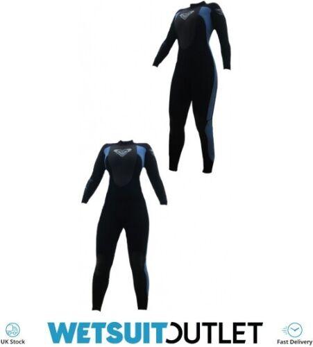 Roxy Syncro 3//2mm Flatlock Steamer Wetsuit SY40WS Black Pewter 2ND Ladies Water