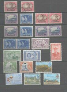 22-timbres-Basutoland-2-obliteres-20-neufs
