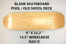 Vuoto Plain-Pool Old Skool Skateboard Deck - 9 x 32.2 - NASO skate CUSTOM NUOVO