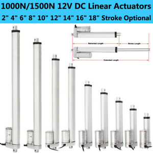 "Linear Actuator Motor 1000N//1500N  2/""-18/"" Door Opener Heavy Duty Bracket RV Lift"