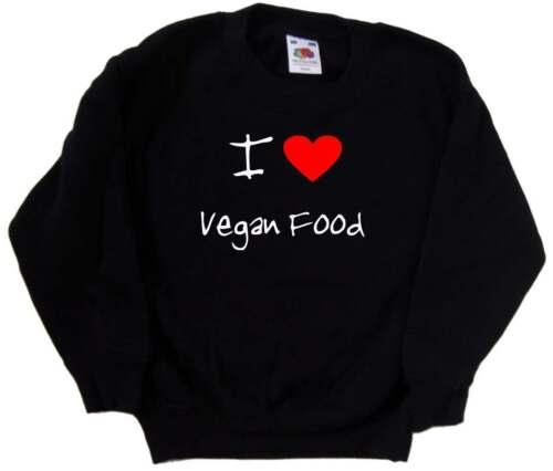 I Love Heart Vegan Food Kids Sweatshirt