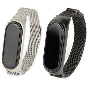 Edelstahl Milanese Armband für Xiaomi Mi Band 3 & 4 Fitness Tracker Milanaise