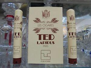 TED-LAPIDUS-pour-homme-034-LES-CIGARES-034-EDT-2-pieces-15-15-ml-spray-VINTAGE-RARE
