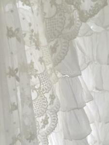 Shabby-French-Country-Curtain-Drape-Vintage-Ivory-Lace-Panel-Chic-More-Available