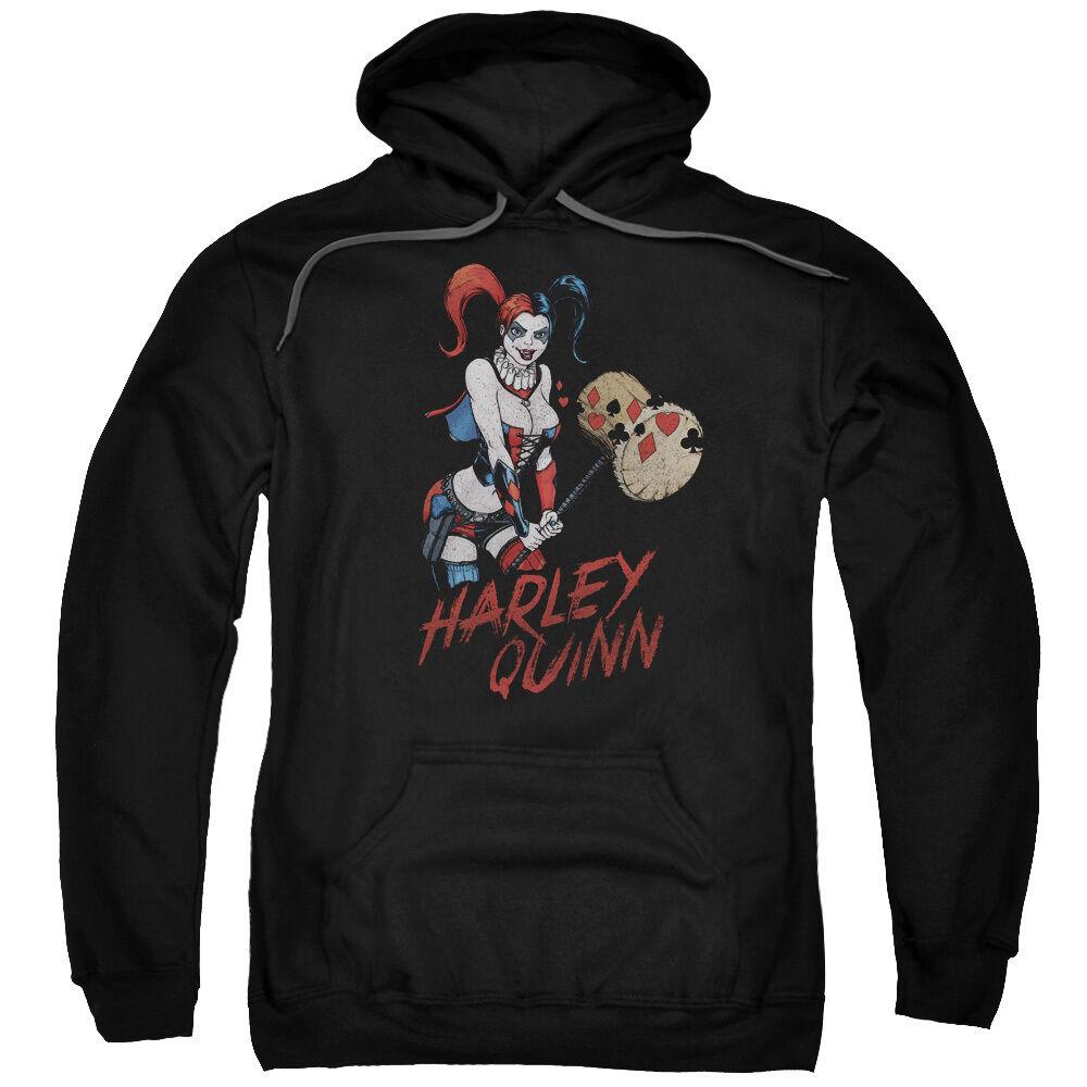 HARLEY QUINN Holding Big HAMMER Vintage Style Sweatshirt Hoodie